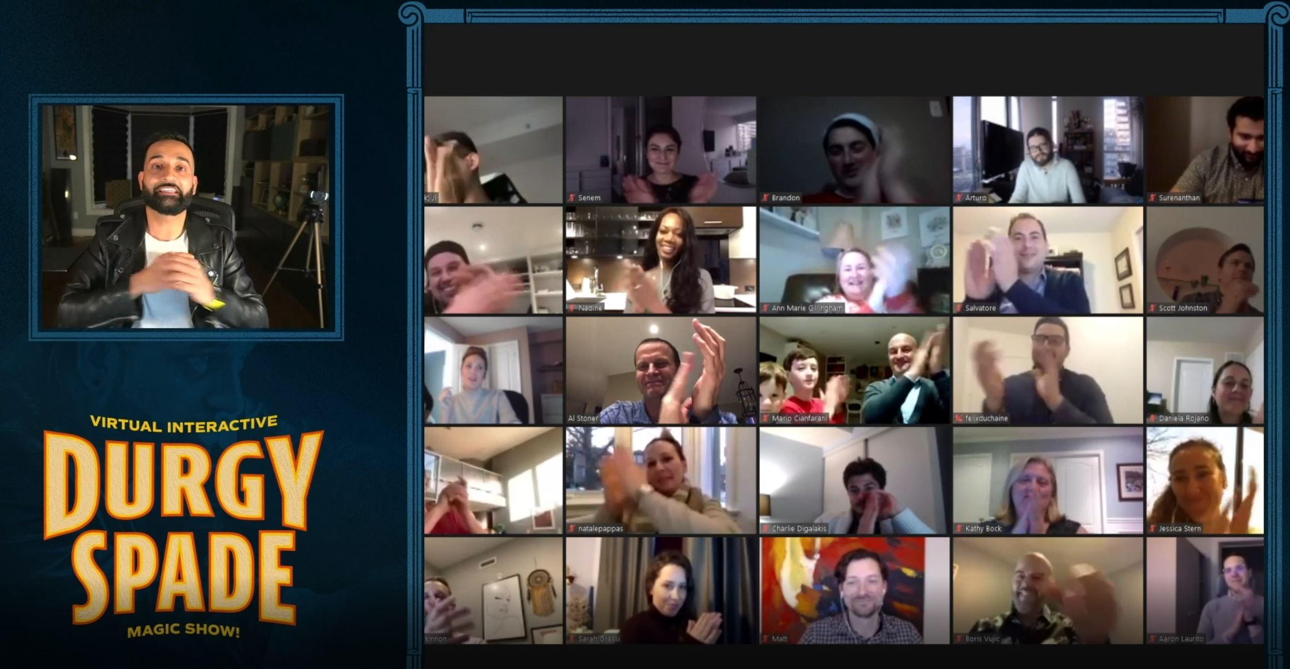 Screenshot from Toronto Virtual Magic Show with Durgy Spade