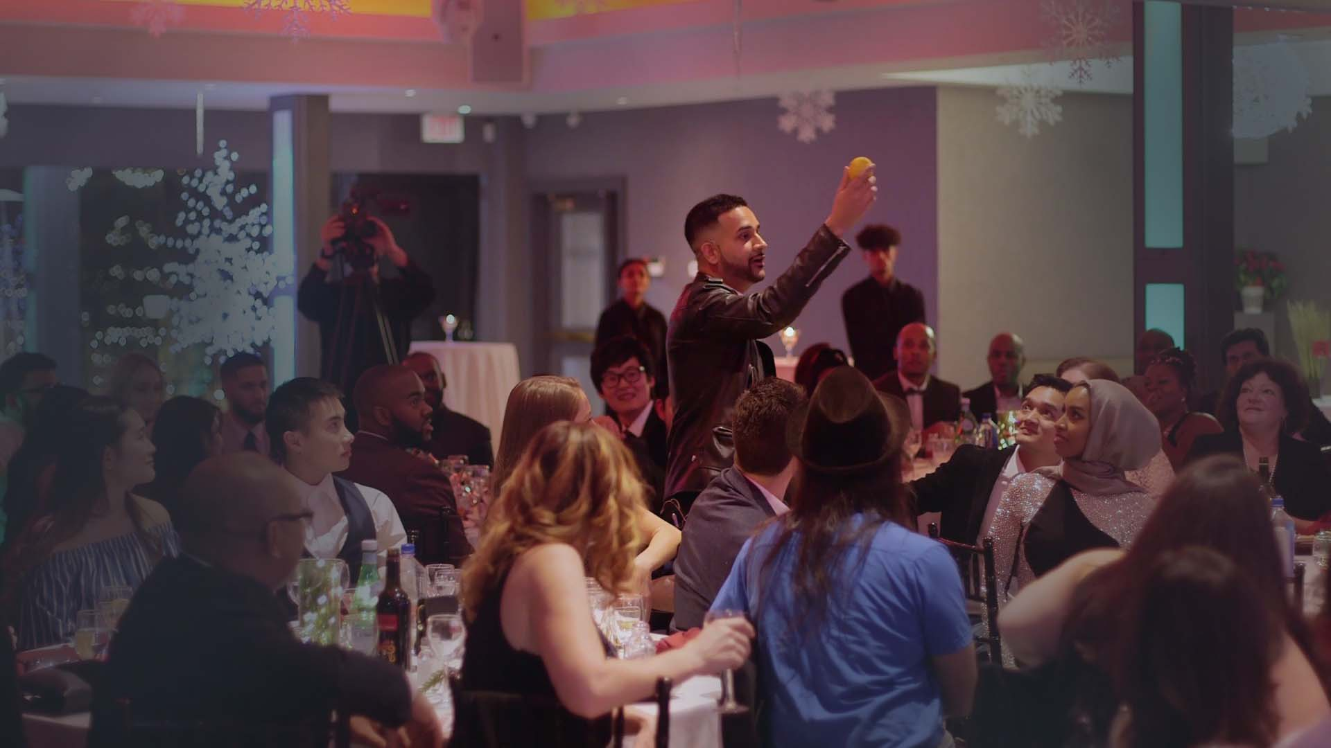 Toronto Magician performing at a corporate event